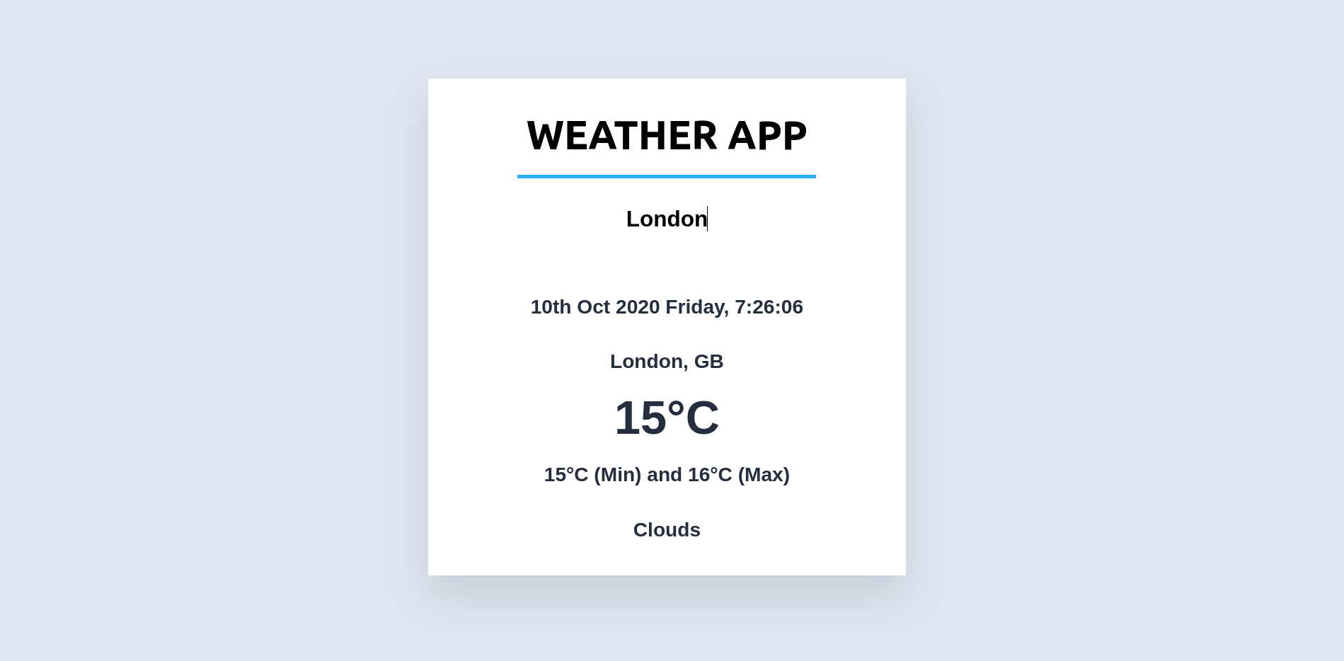 Weather App demo